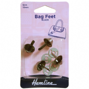 Hemline Black Bag Feet - 15mm
